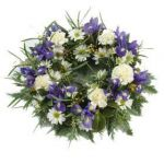 Open Wreath Blue and White